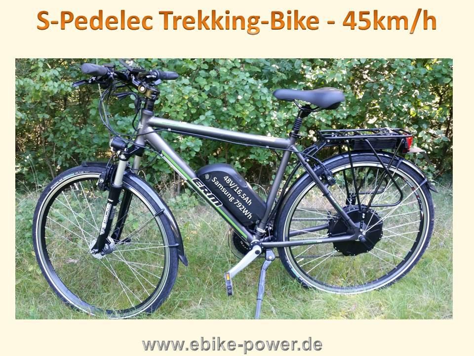 Herren Trekking S Pedelec 28 45kmh Rh52 Akku 48v Ladegerät