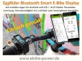 EggRider Bluetooth Smart E-Bike-Display mit mobilen Apps für Android / iOS